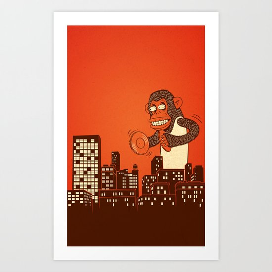 monkey on your back Art Print