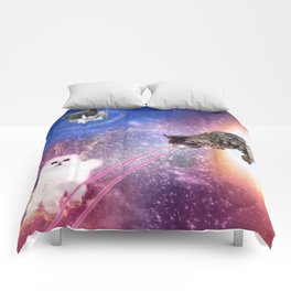 Adventures with Space Cats Comforters