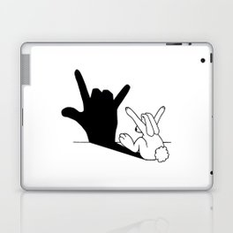 Rabbit Love Hand Shadow Laptop & iPad Skin