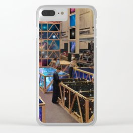 Moving universes Clear iPhone Case