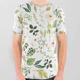 Botanical Spring Flowers All Over Graphic Tee