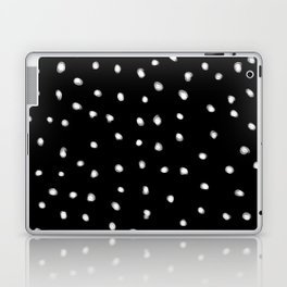 white dots on black Laptop & iPad Skin