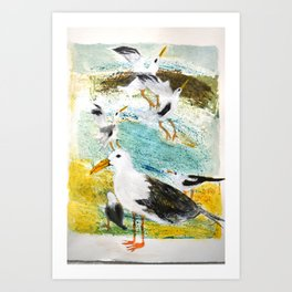 Seagulls Narrative Art Print