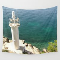 lighthouse Wall Tapestries featuring Lighthouse by Bitifoto