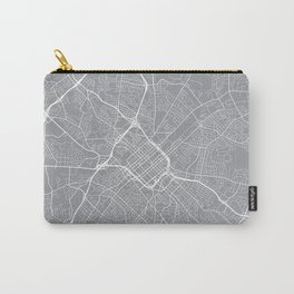 Charlotte Map, North Carolina USA - Pewter Carry-All Pouch
