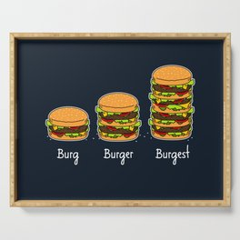 Burger explained 2. Burg. Burger. Burgest. Serving Tray