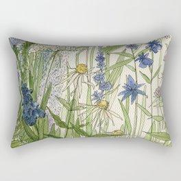 Wildflowers 2 watercolor Rectangular Pillow