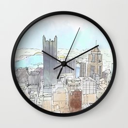 Dahntahn Pittsburgh Wall Clock