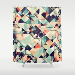 Jumble of Colors And Texture Shower Curtain