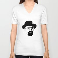 heisenberg V-neck T-shirts featuring Heisenberg by Renan Lacerda