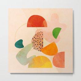 modern art abstract shapes play 1 Metal Print