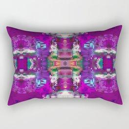 Purple digital patchwork Rectangular Pillow