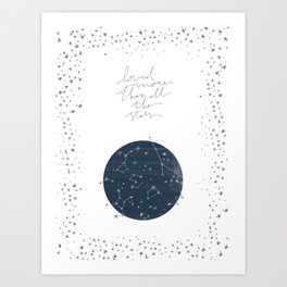 more than all the stars Art Print