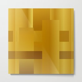 Gold paths Metal Print
