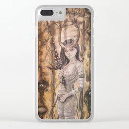 Morbianna - Dark Dryad Clear iPhone Case