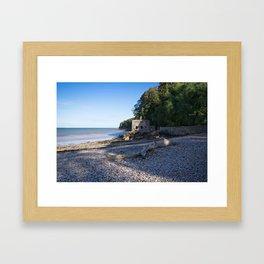 Elberry Cove - Agatha Christie's Favourite Bathing Spot Framed Art Print