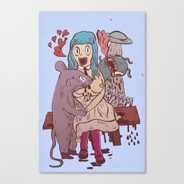 Let's get friendly, stranger Canvas Print