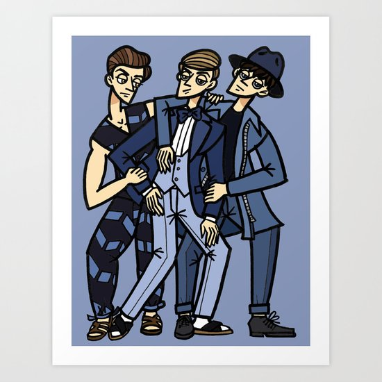 file 033. blue brothers Art Print