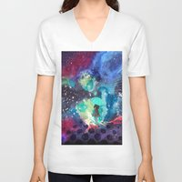 whisky V-neck T-shirts featuring SPACE by sametsevincer