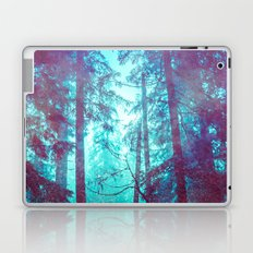 Nature Forest - Blue Mystical Winter Trees Laptop & iPad Skin
