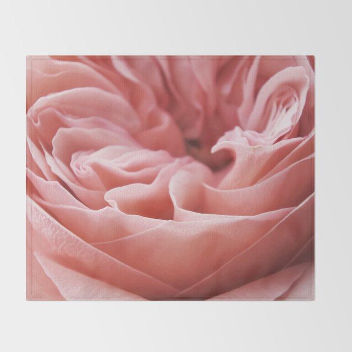 Blushing Swirl Throw Blanket