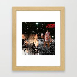 Blood Planet Framed Art Print