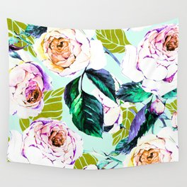 Floral watercolor Wall Tapestry