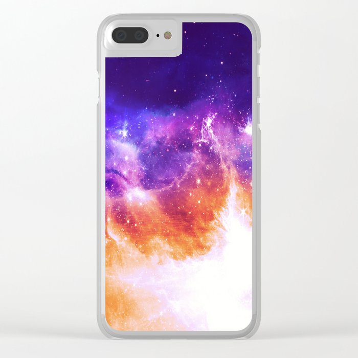 Stars & Flames Clear iPhone Case