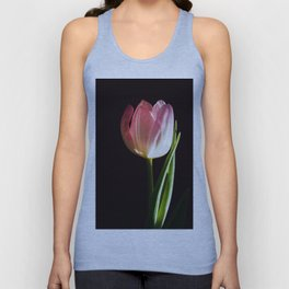 Macro pink tulip Unisex Tank Top