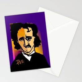 Purple Edgar Allan Poe  Stationery Cards