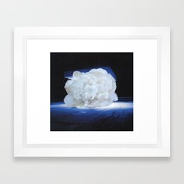 Floral UFO Landing Framed Art Print