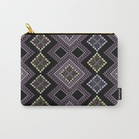 Folk beads circles ethnic pattern Carry-All Pouch