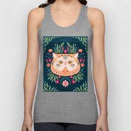 Candied Sugar Skull Kitty Unisex Tank Top