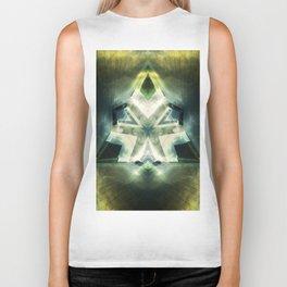 Triangle of light. Abstract Artwork. Biker Tank