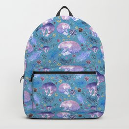 Cats and Australian Native Florals Backpack