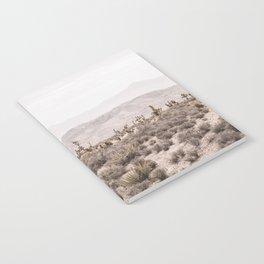 Sierra Nevada Mojave // Desert Landscape Blush Cactus Mountain Range Las Vegas Photography Notebook