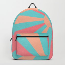 pink and peach sunshine Backpack