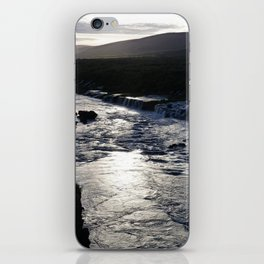 Waterfall at sundown iPhone Skin