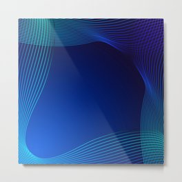Greeting card of blue lines on a blue background. Metal Print