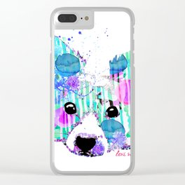 zoe the papillon Clear iPhone Case