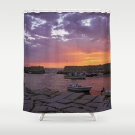 Lanescove Sunset Shower Curtain