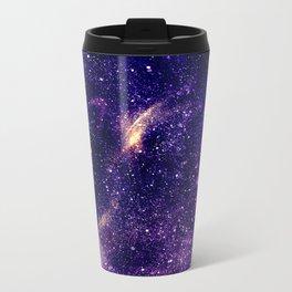 Ultra violet purple abstract galaxy Metal Travel Mug