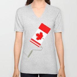 Paint Roller Canada Unisex V-Neck