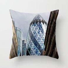 The Gherkin London Throw Pillow