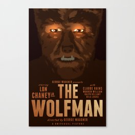 The Wolf Man 1941 poster Canvas Print