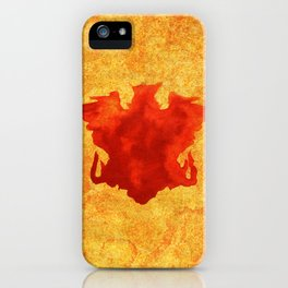 Footprint skull iPhone Case