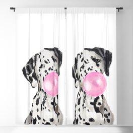 Dalmatian Blowing Bubble Gum Blackout Curtain