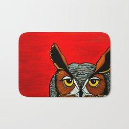 Peaking - Great Horned Owl Bath Mat
