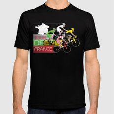Tour De France Black Mens Fitted Tee X-LARGE