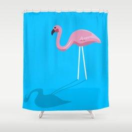 Mr. Flamingo Shower Curtain